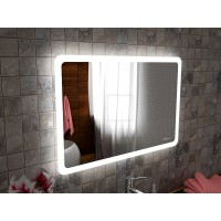 Зеркало с интерьерной подсветкой для ванной комнаты Катани