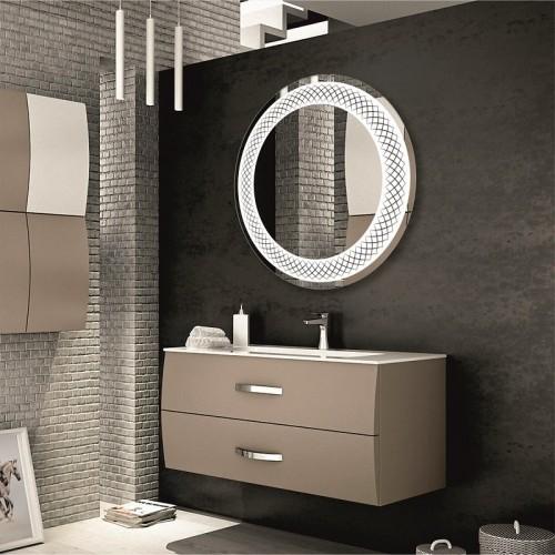Зеркало в ванную комнату с контурной подсветкой светодиодной лентой Сидней